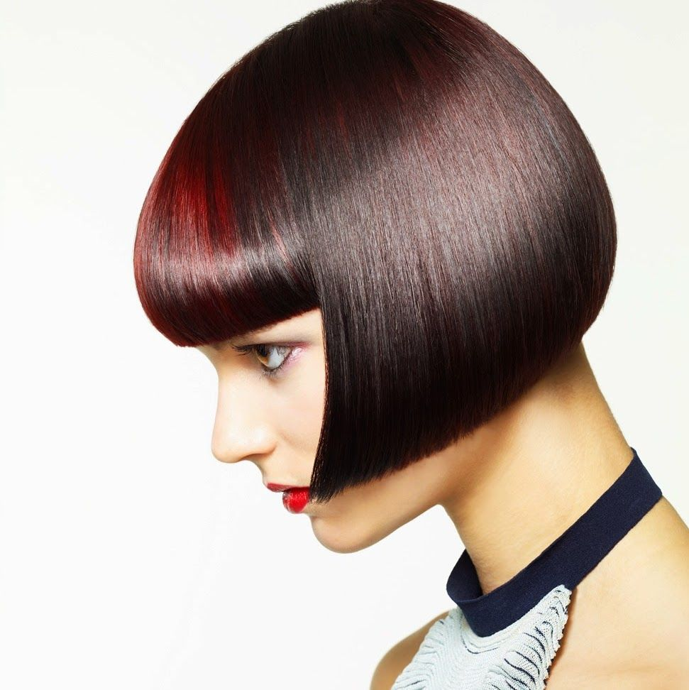 lip-length bob with bangs beautiful