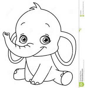 Animated Elephants Elefanten Umriss Baby Elefant Zeichnung Malvorlagen Tiere