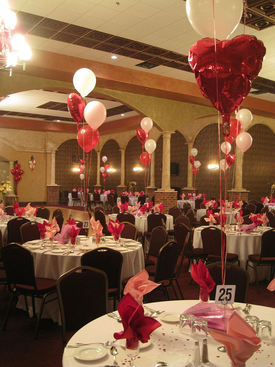 Valentines Day Decorations Royal Hall Banquet Hall and Royals
