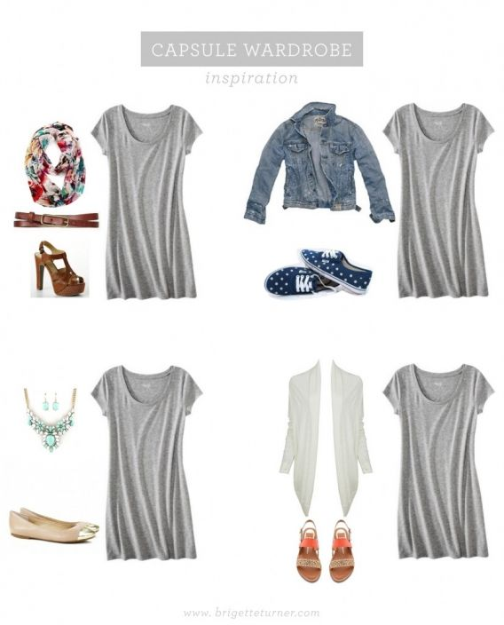 grey tshirt dress outfit