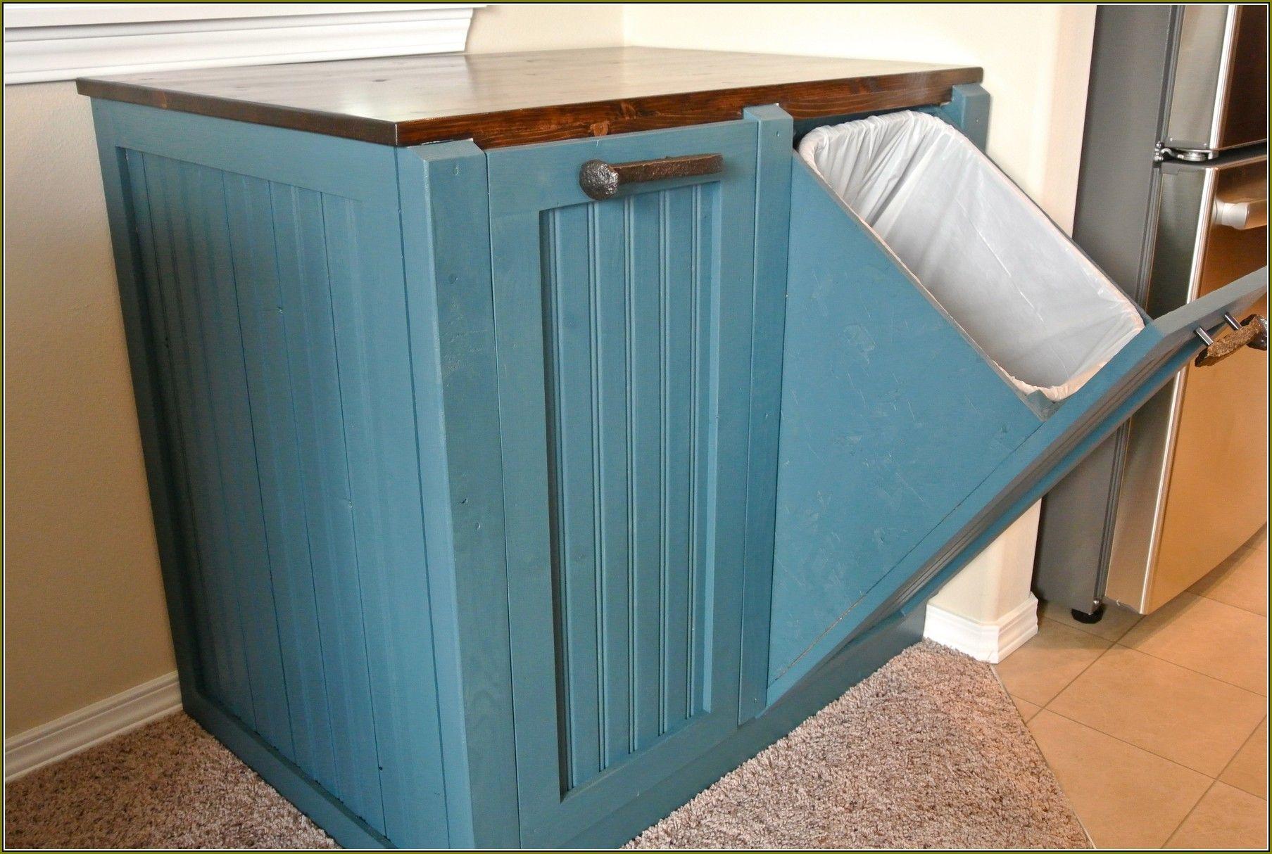 Primitive Trash Can Holder Posts Related To Wooden Trash