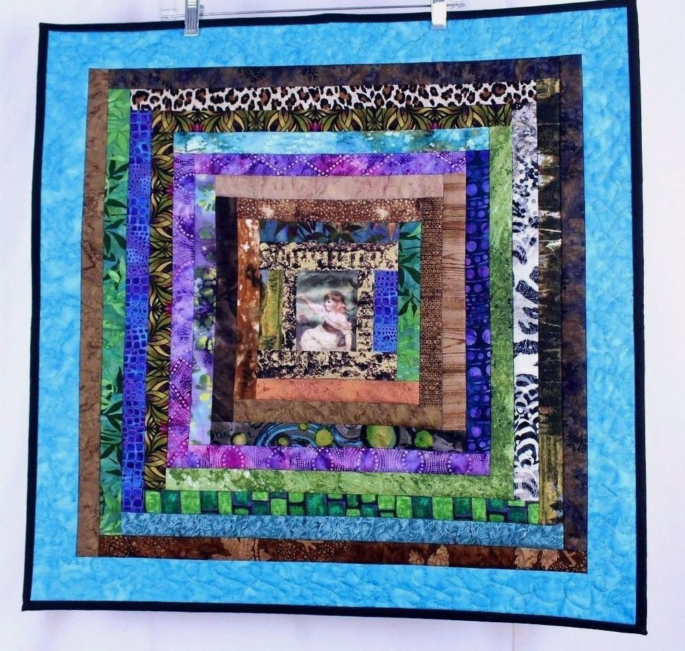 Handmade Quilt Wall Hanging Small Girl Painting Wanda E Tamasy ... : handmade quilted wall hangings - Adamdwight.com