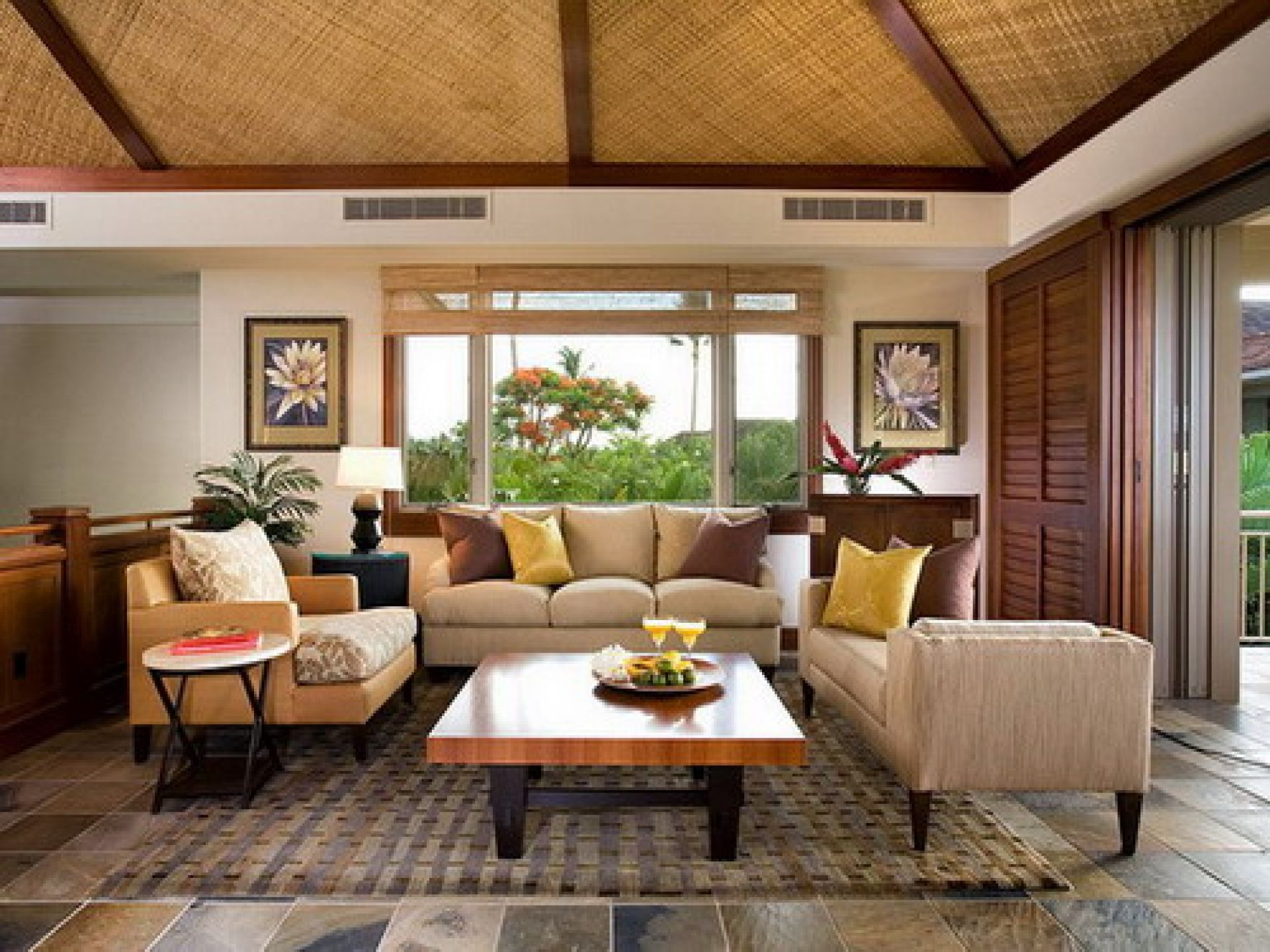 Tropical Interior Design: 1920x1440 Elegant Tropical Style Living Roomu2026
