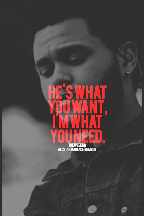 The Weeknd What You Need
