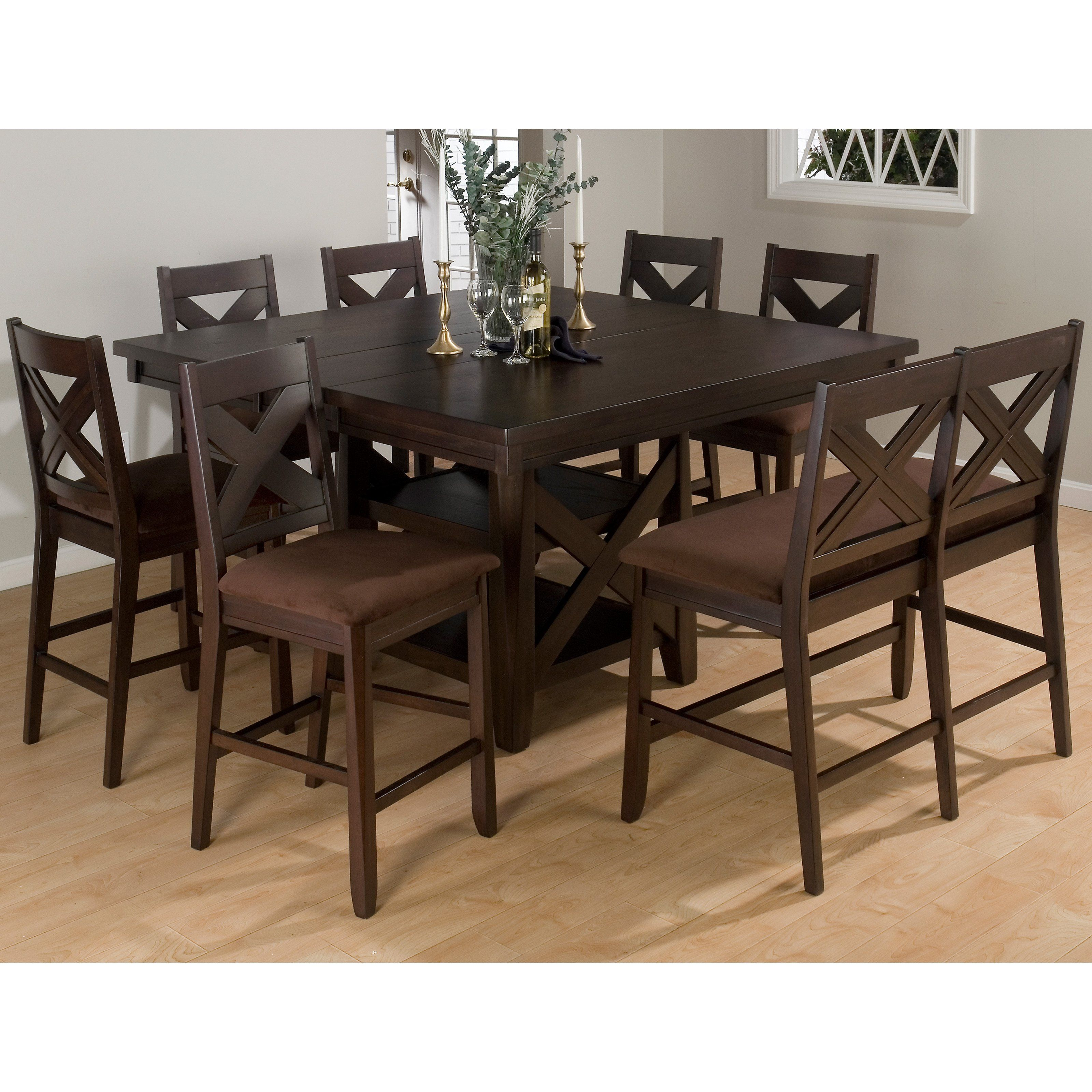 Jofran Chadwick Counter Height Table With Corner Bench And: Stonington 8 Pc. Counter Height Dining Set With Bench