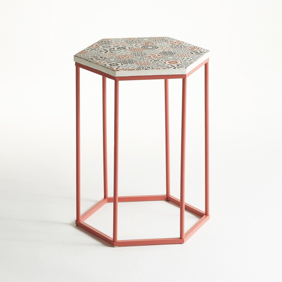Topim Coffee Table Pedestal Table with Ceramic Top