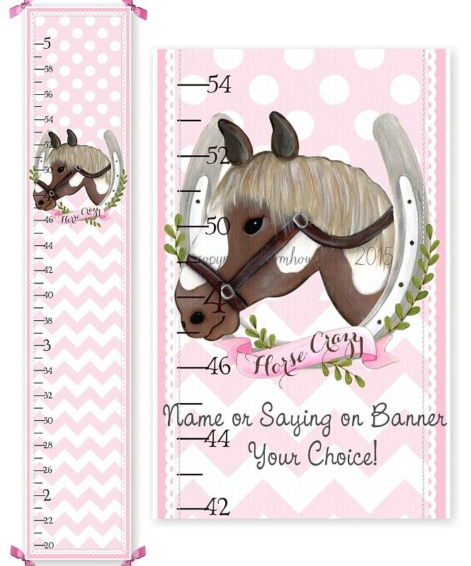 Horse Shoe Canvas Growth Chart Girl Pinterest Growth Charts