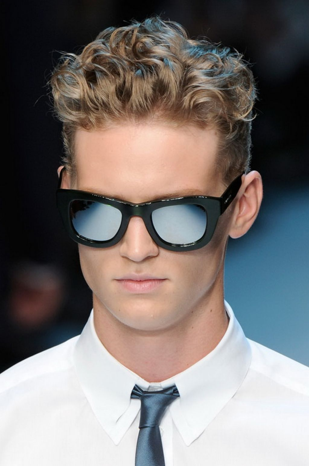 Men Hairstyles Thick Curly Hair With Glass Curly hair