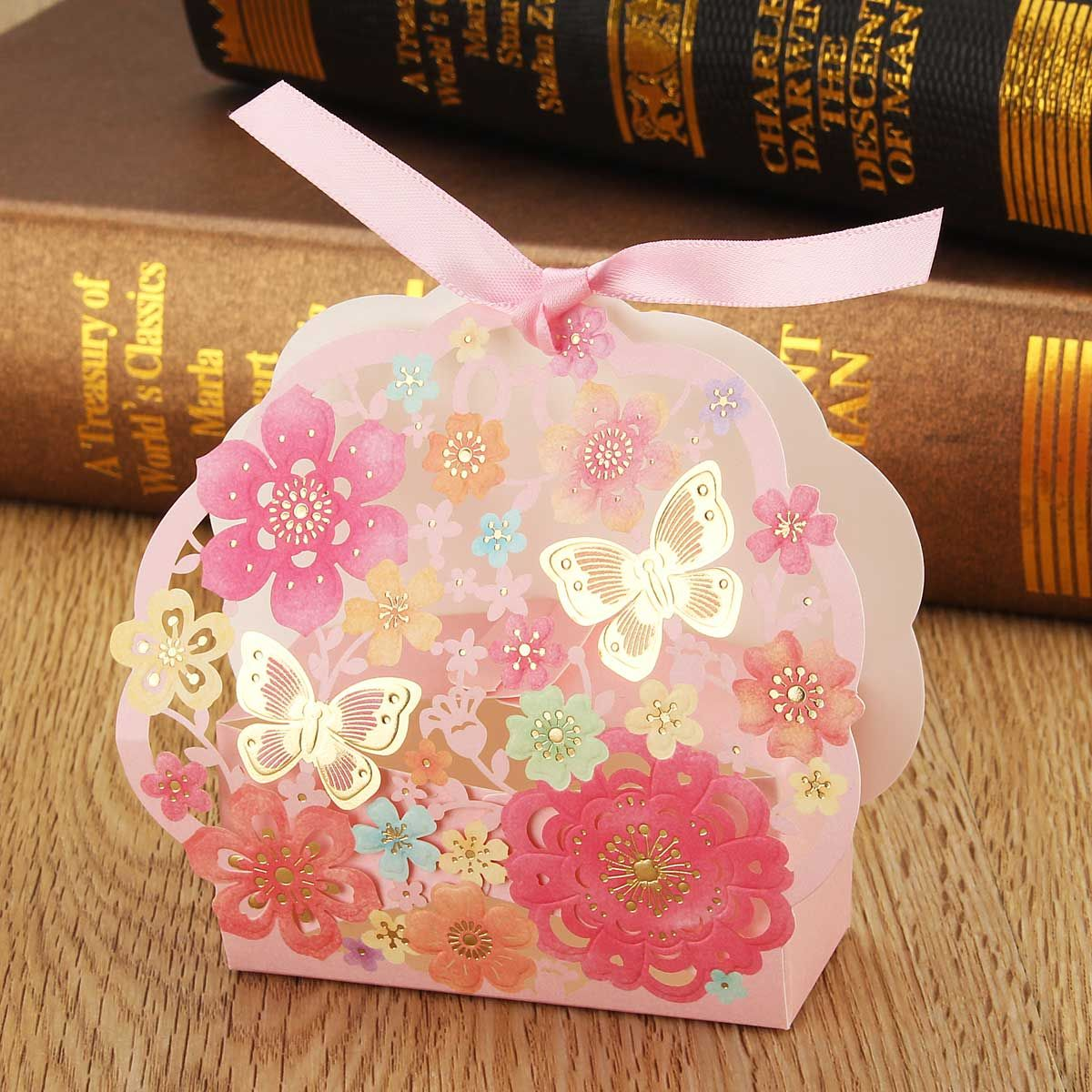 10Pcs/Lot Romantic Butterfly Flowers Candy Chocolate Cookies Box ...