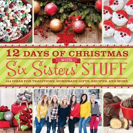 i love the cover of this cookbook six sisters 12 days of christmas