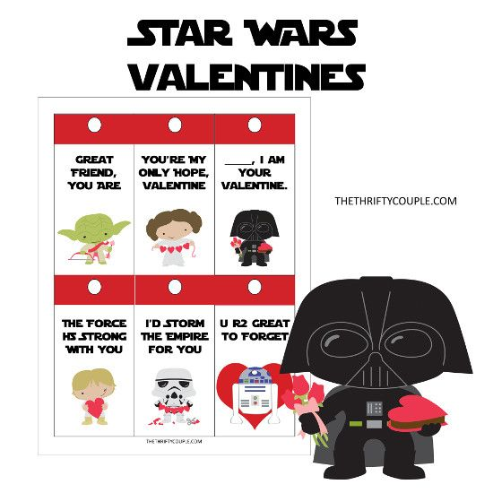 Free Star Wars Printable Valentines Cards Idea With DIY Pencil Lightsa