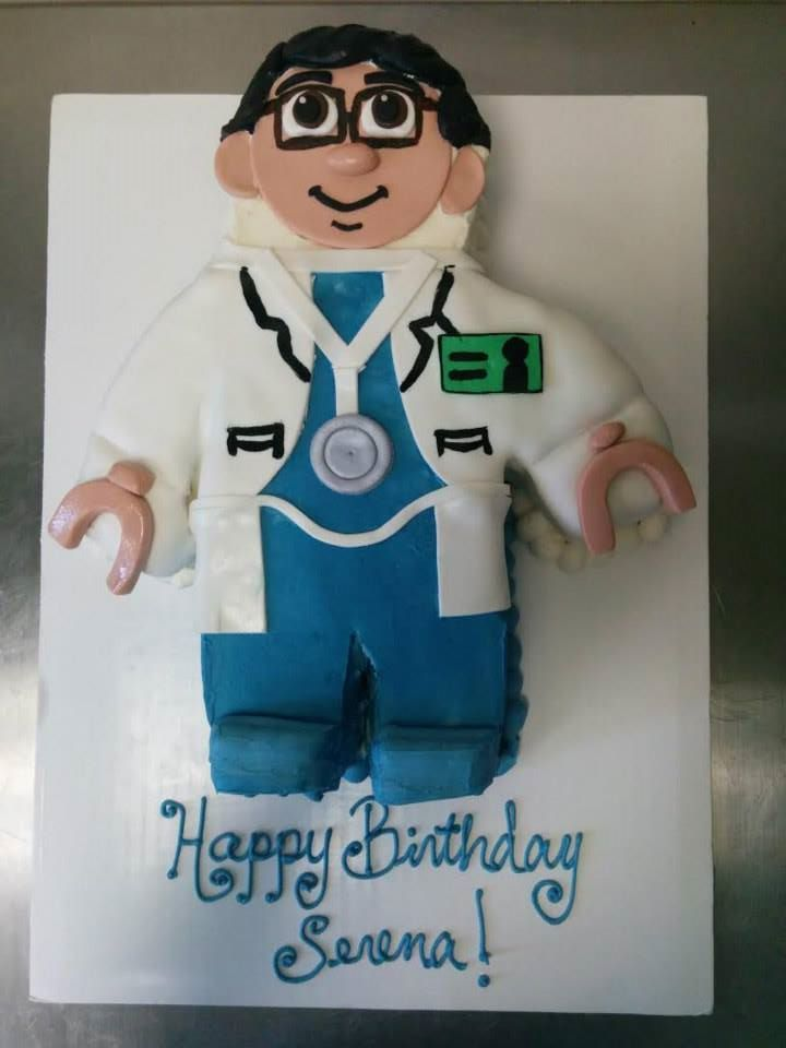 Lego doctor cake for a girl's birthday