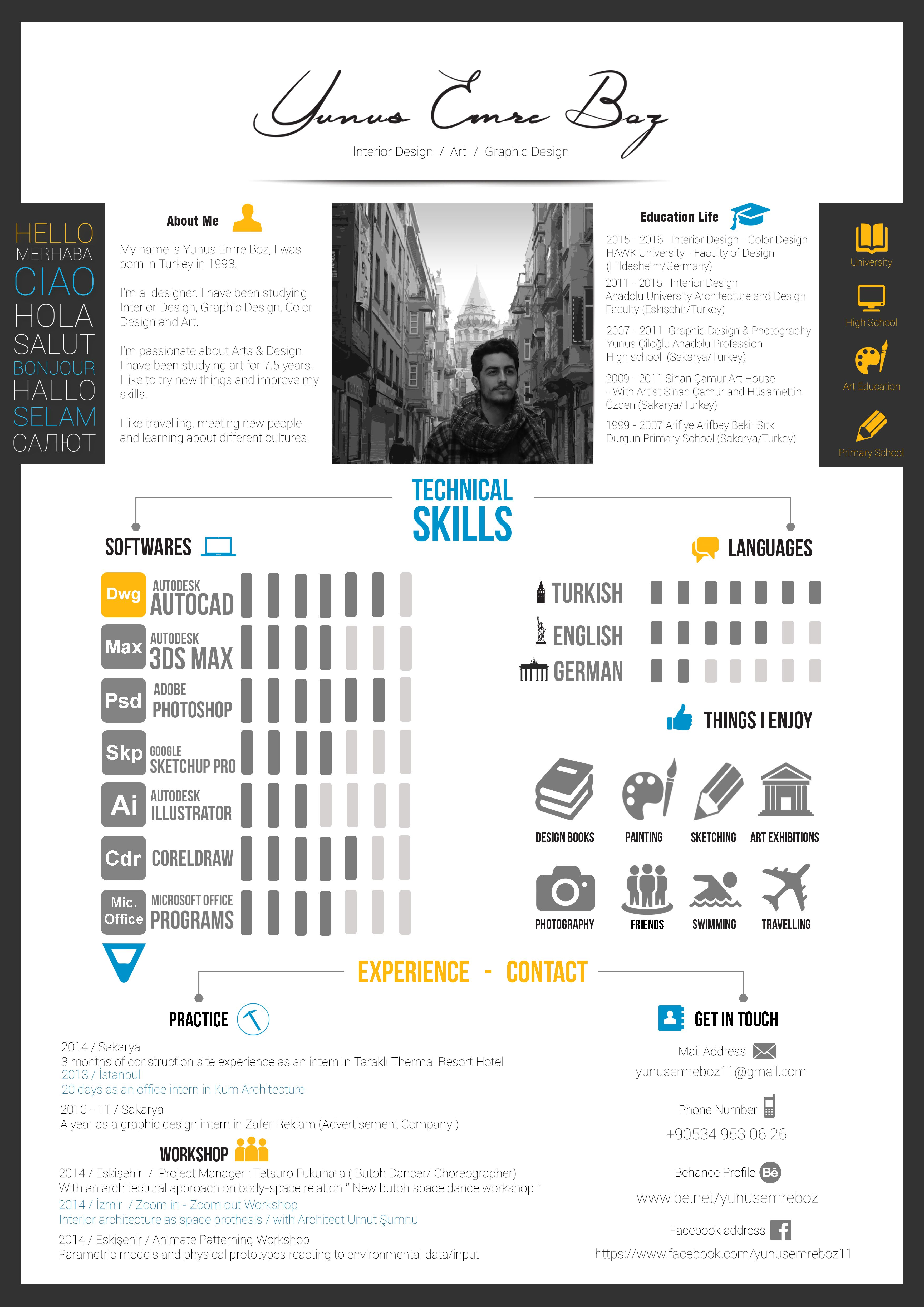 Resume Design My Resume CV Check Out New Work On My Behance
