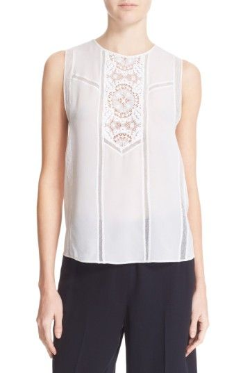 Free shipping and returns on A.L.C. 'Penny' Crochet Lace Silk Tank at Nordstrom.com. An intricate crocheted front panel and mesh insets bare some skin on an airy silk tank that evokes feminine elegance.