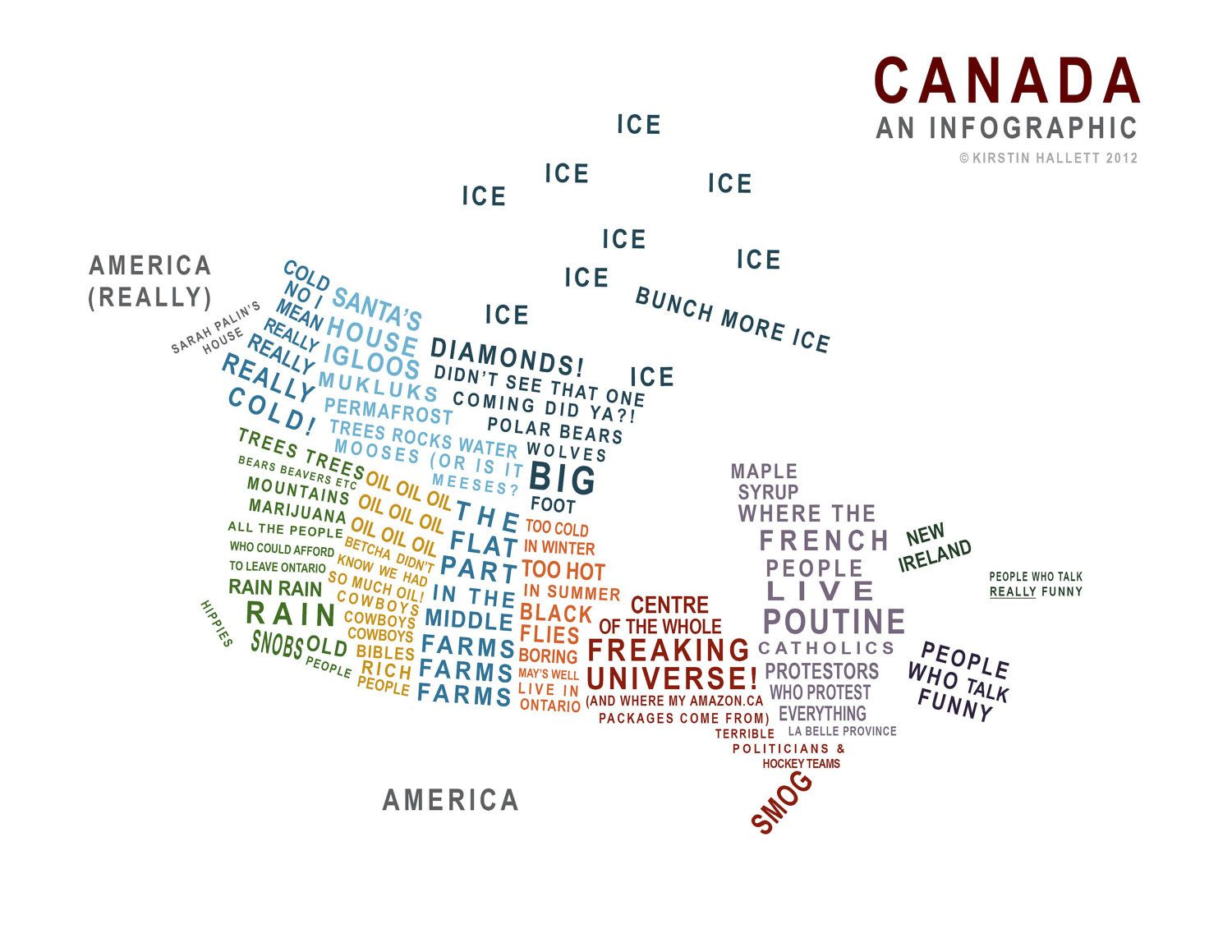 Canada A Map In Words Pretty Accurate But Being From - Map of us added to canada meme