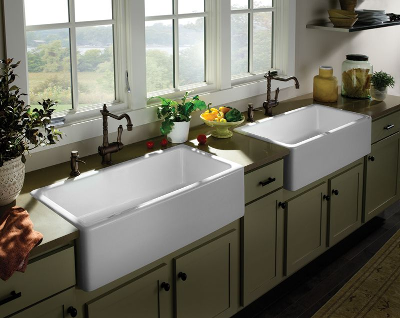 Sinks and Faucets -- classic farmhouse with clean, modern lines ...
