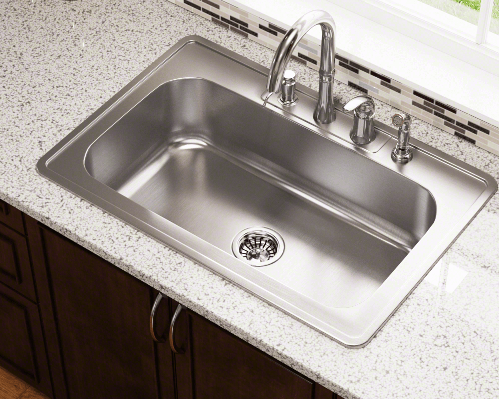 Us1030t Single Bowl Topmount Stainless Steel Sink Drop In