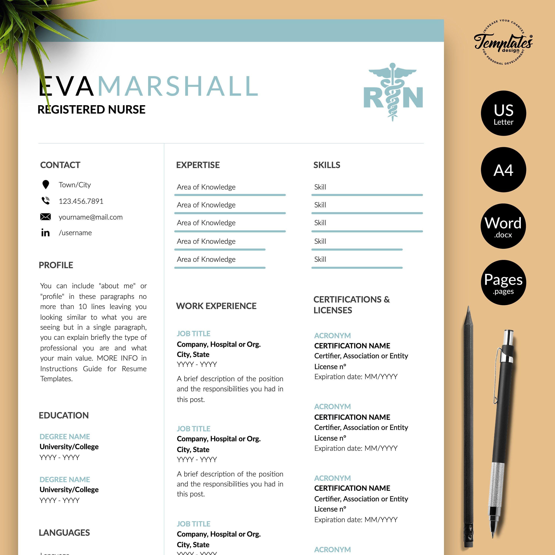 Best registered nurse resume template for word nursing