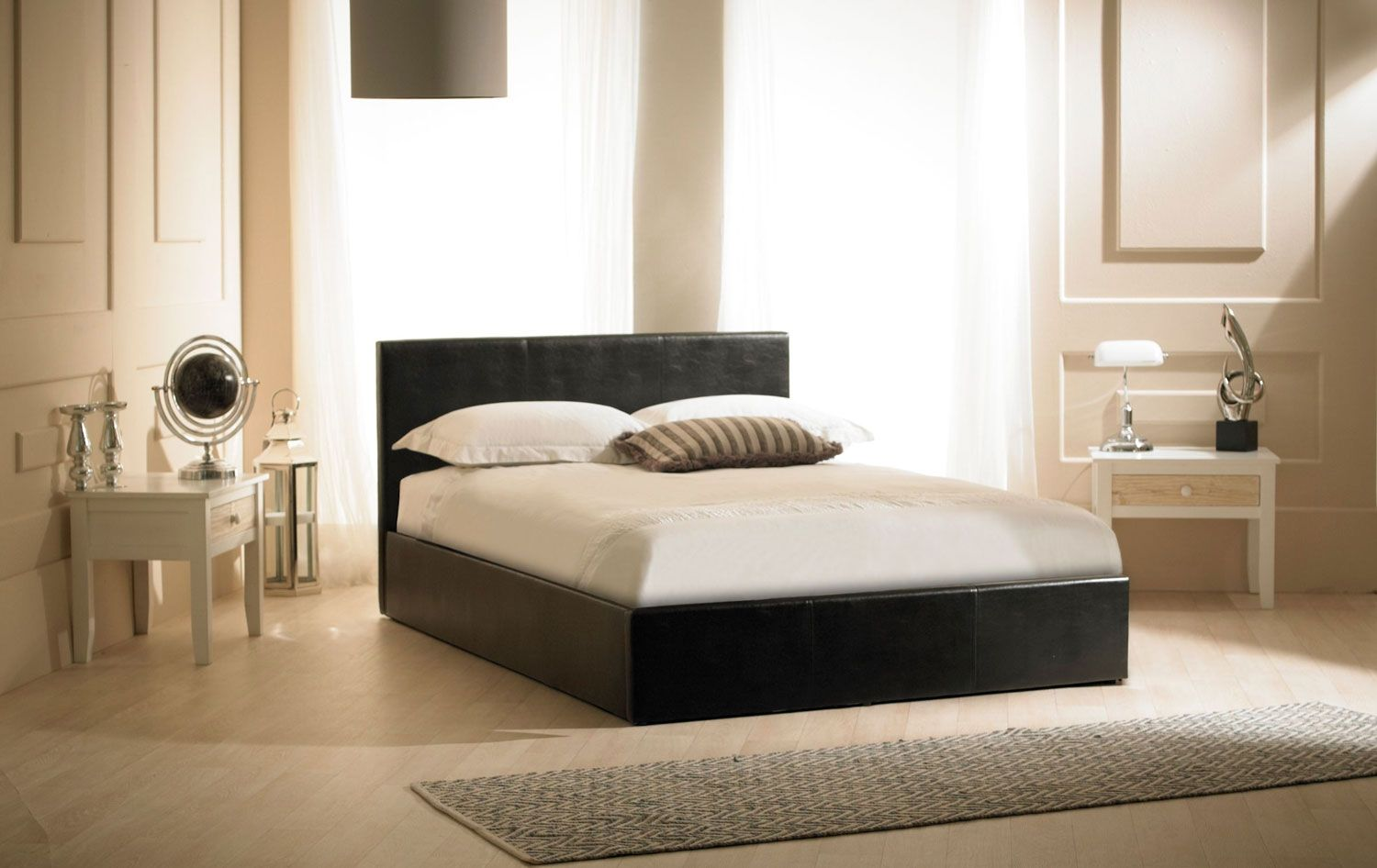 madrid black faux leather ottoman bed the emporia range of ottoman
