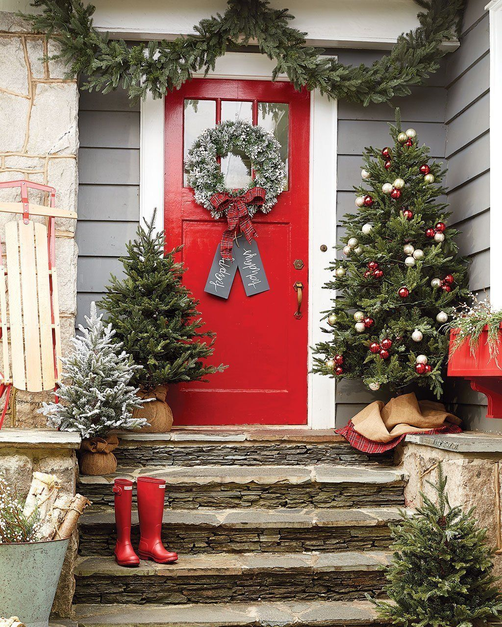 Country Front Door Decorations: 50 Amazing Front Porch Winter Decoration Ideas You Must