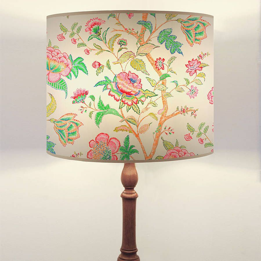 Handmade Floral Coromandel Drum Lampshade By Daniel Croyle |  Notonthehighstreet.com
