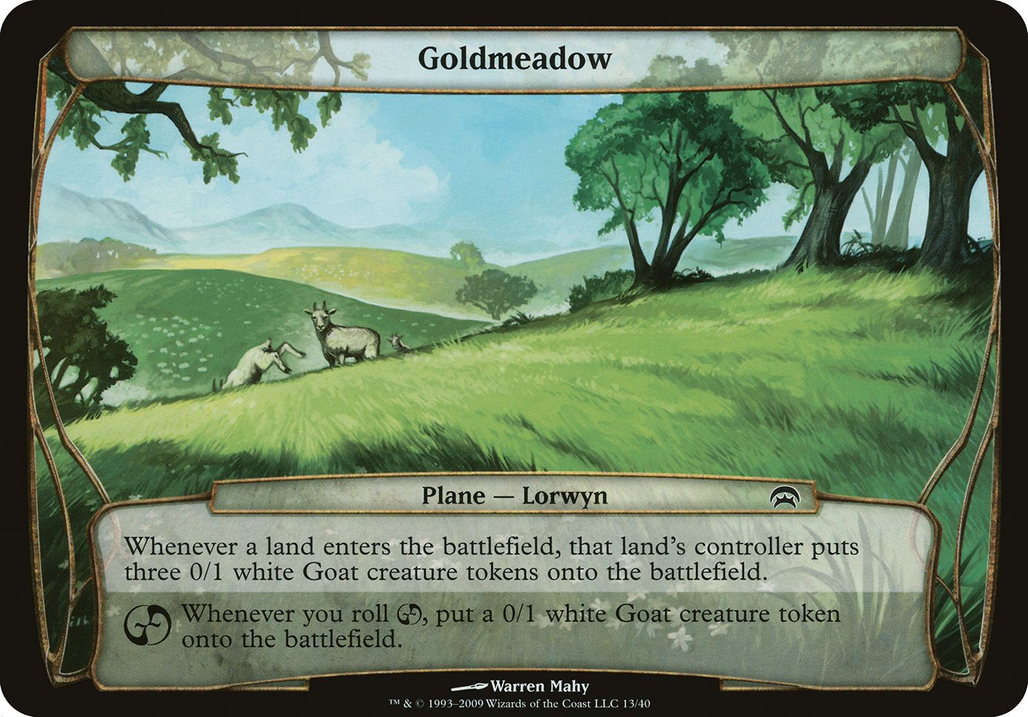 Plane Planechase Goldmeadow Magic The Gathering The Gathering Wizards Of The Coast