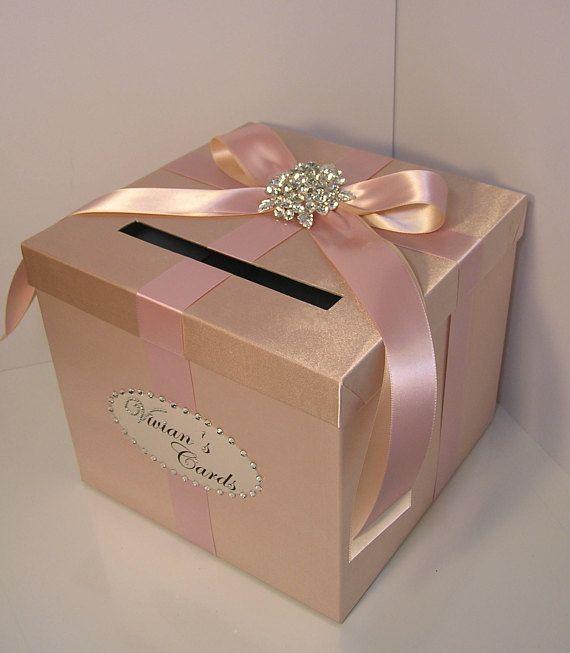 Wedding/Quinceañera/Sweet 16 Card Box Rose Gold And Blush