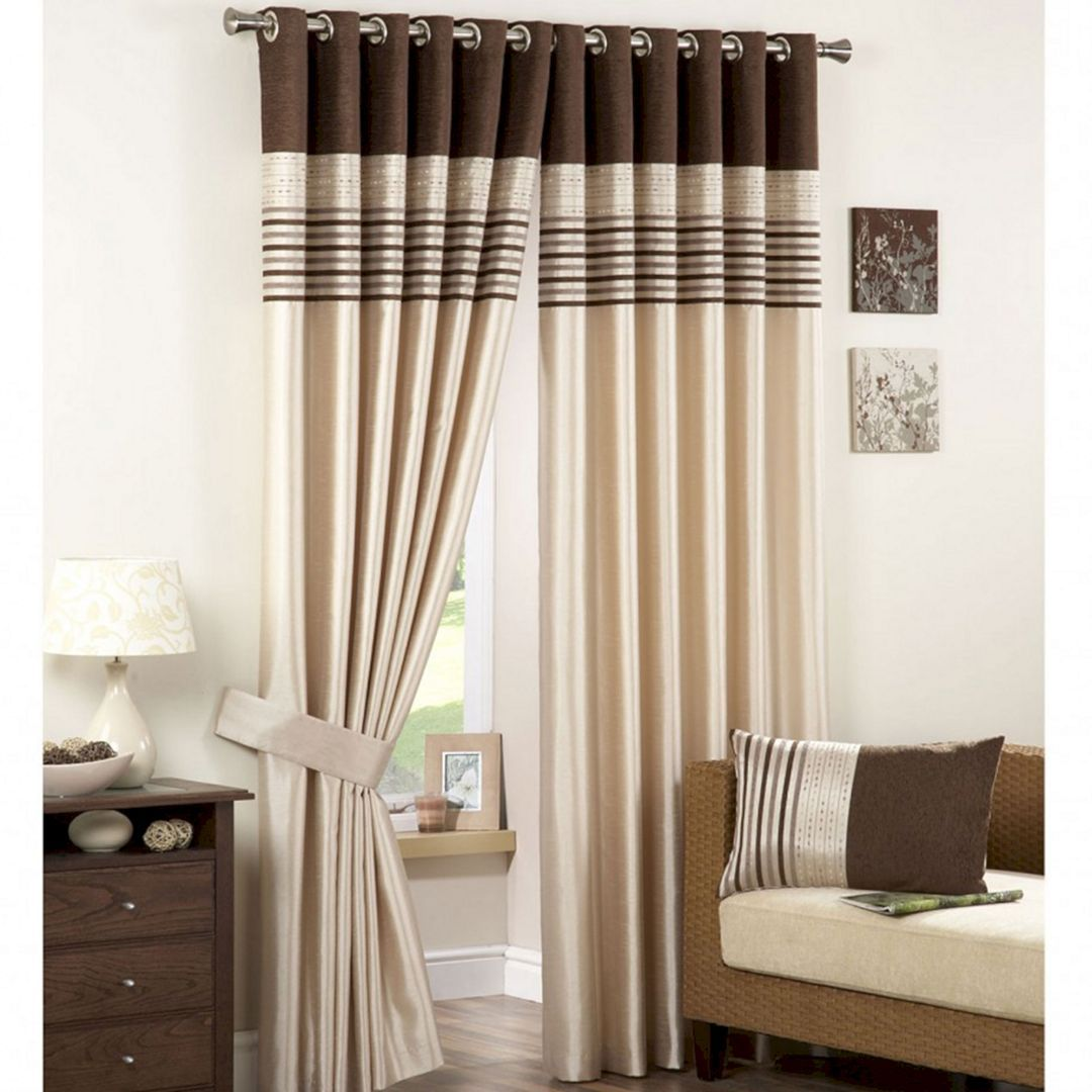 Marvelous 40 Beautiful Modern Curtain Design To Make Scenery Your Living Room Https Usdecorating C Curtains Living Room Brown Kitchen Curtains Brown Curtains