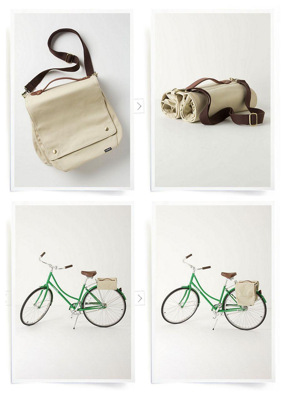 Roll Up Bike Pannier Linus Market Bag Bikes Bike