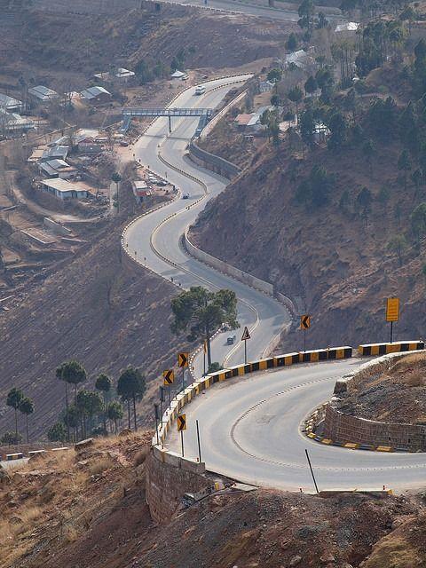 Expressway to Murree, Pakistan. — in Murree.