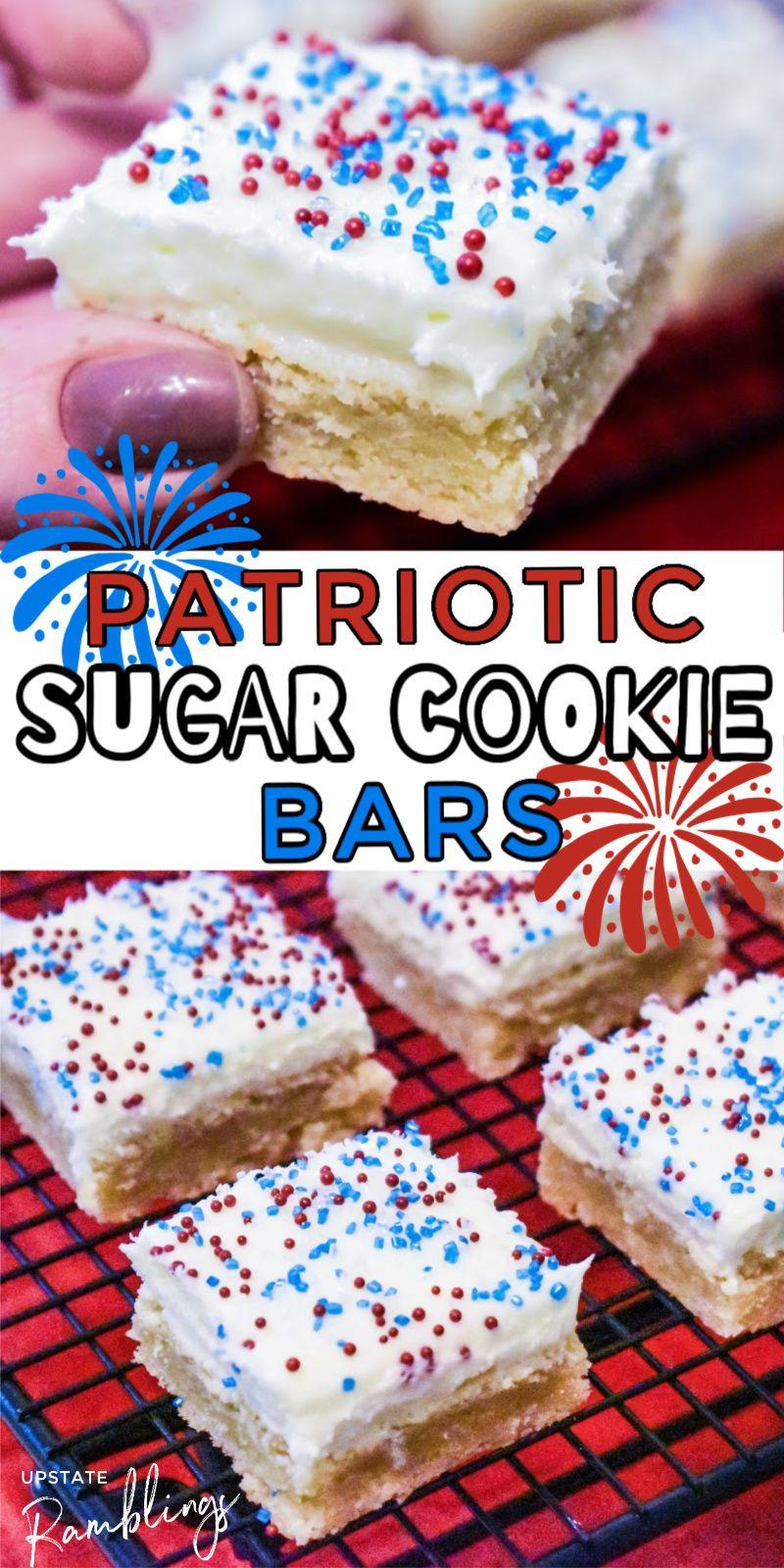 , Patriotic Sugar Cookie Bars – easy, MySummer Combin Blog, MySummer Combin Blog