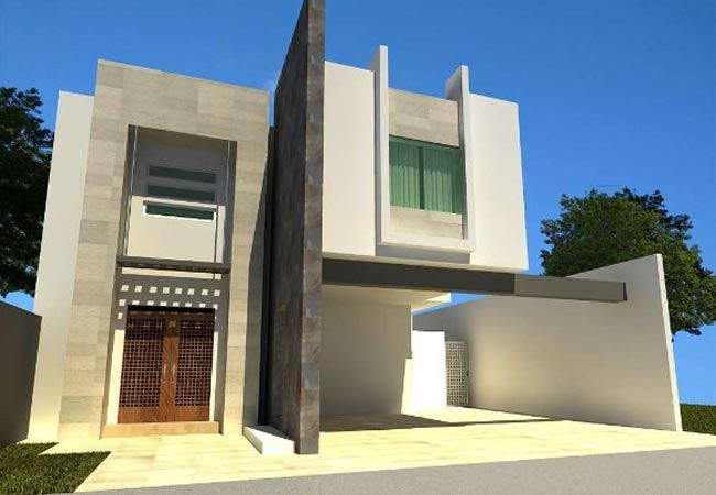 Fachadas de casas modernas con piedras decorativas fachadas for Piedras para fachadas minimalistas