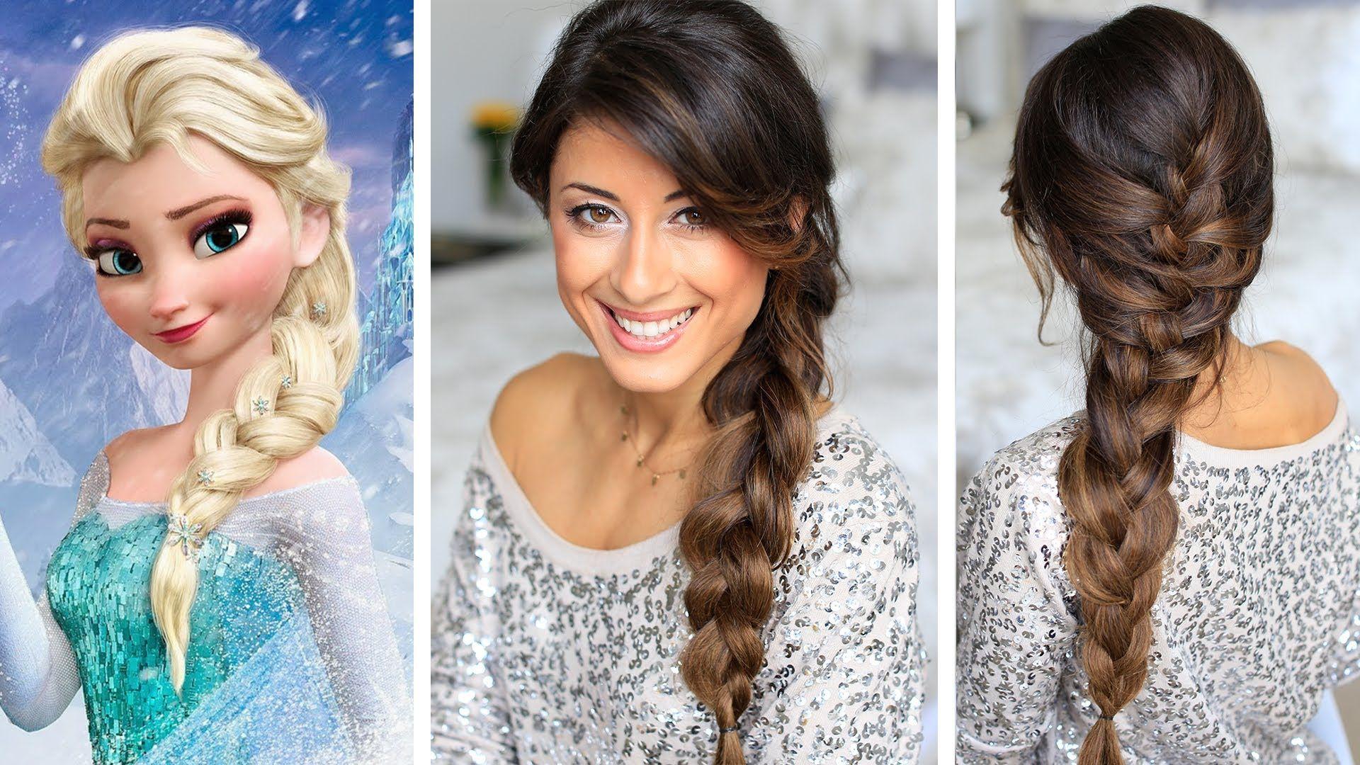Frozen elsaus braid hair tutorial luxy hair long thick hair