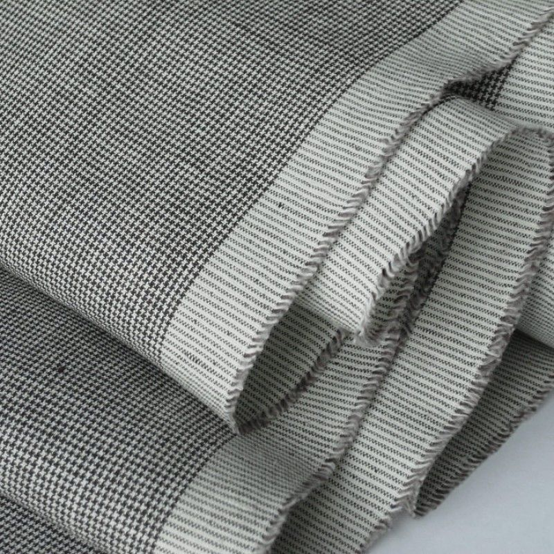 tiny dogtooth linen dressmaking material | fabric | Ditto Fabrics £11.99/m 150cm wide