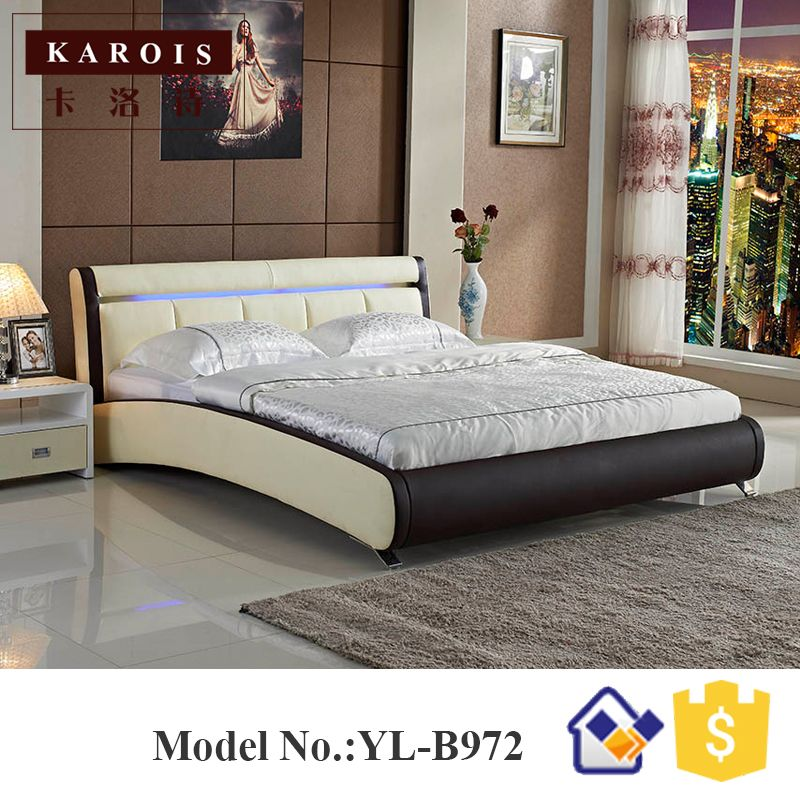 Latest Maharaja LED bedroom set furniture white luxury LED faux leather bed china bedroom furniture Lovely - Cool bed sets with mattress Contemporary