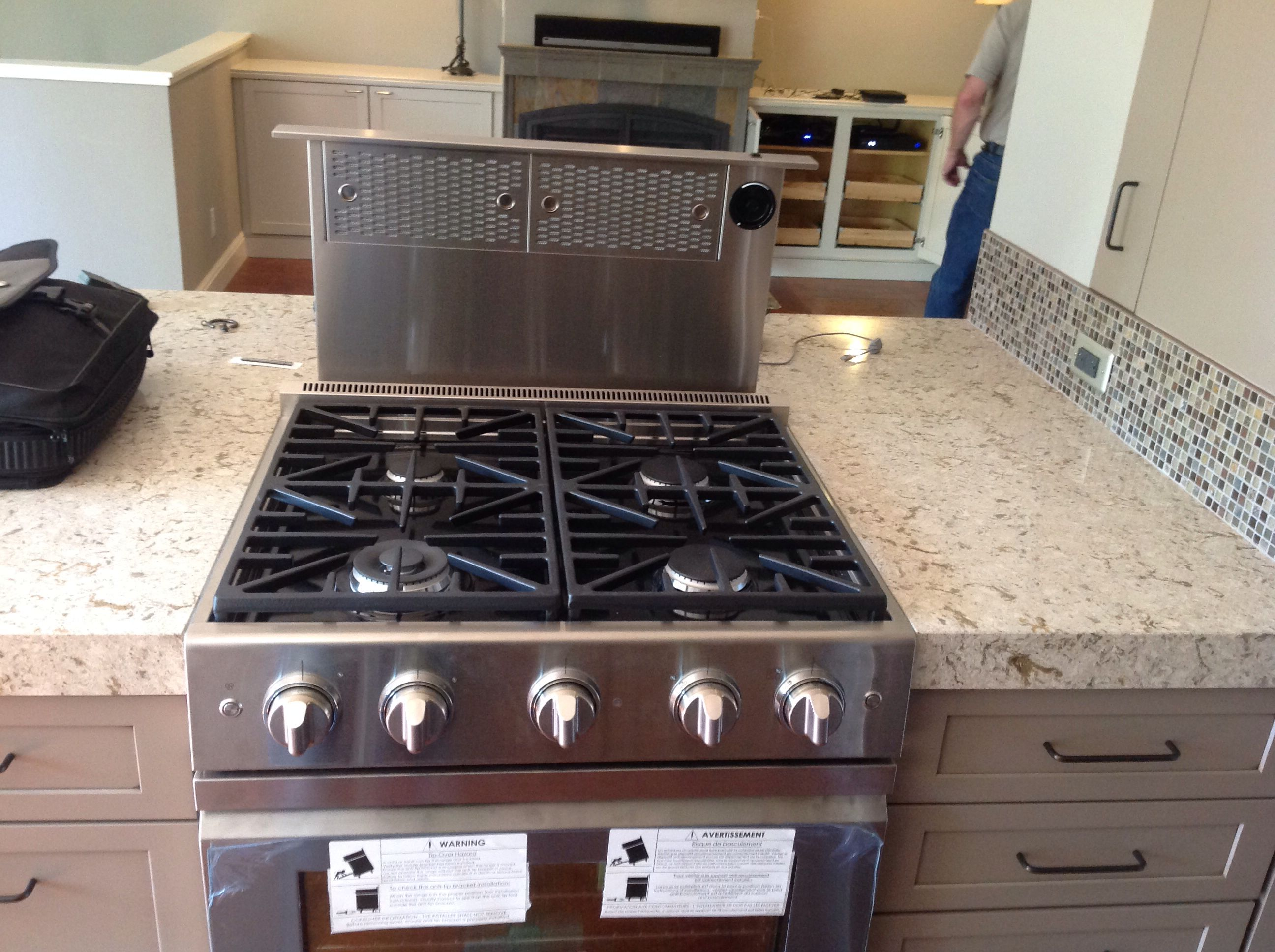 Gas Countertop Stoves Dacor Gas Stove With Dacor Down Draft Vent With Crystal