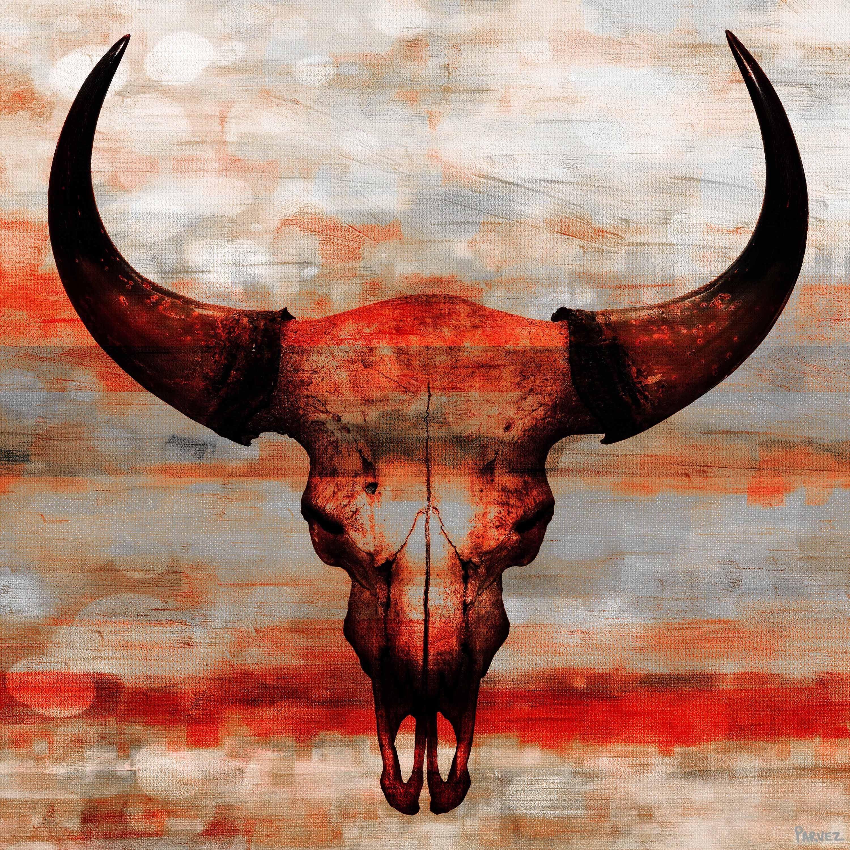 Pin By Larry Lovell On House Decor Rustic Skull Painting Skull Art Print Painting
