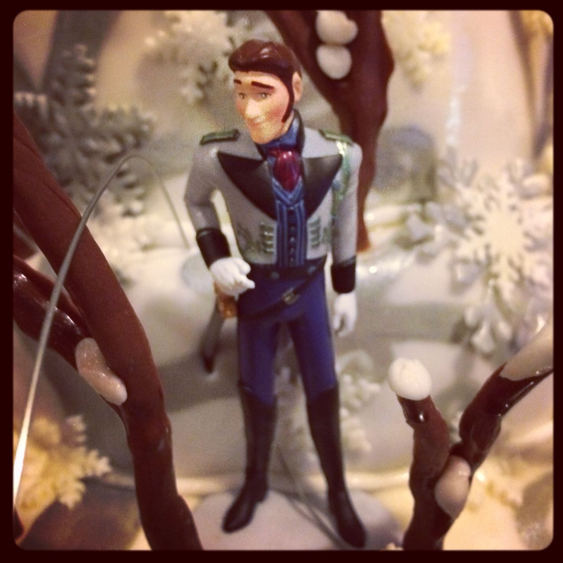 Hans in the forest/mountain Disney frozen characters toy caketopper by chenjezzycoolcakes