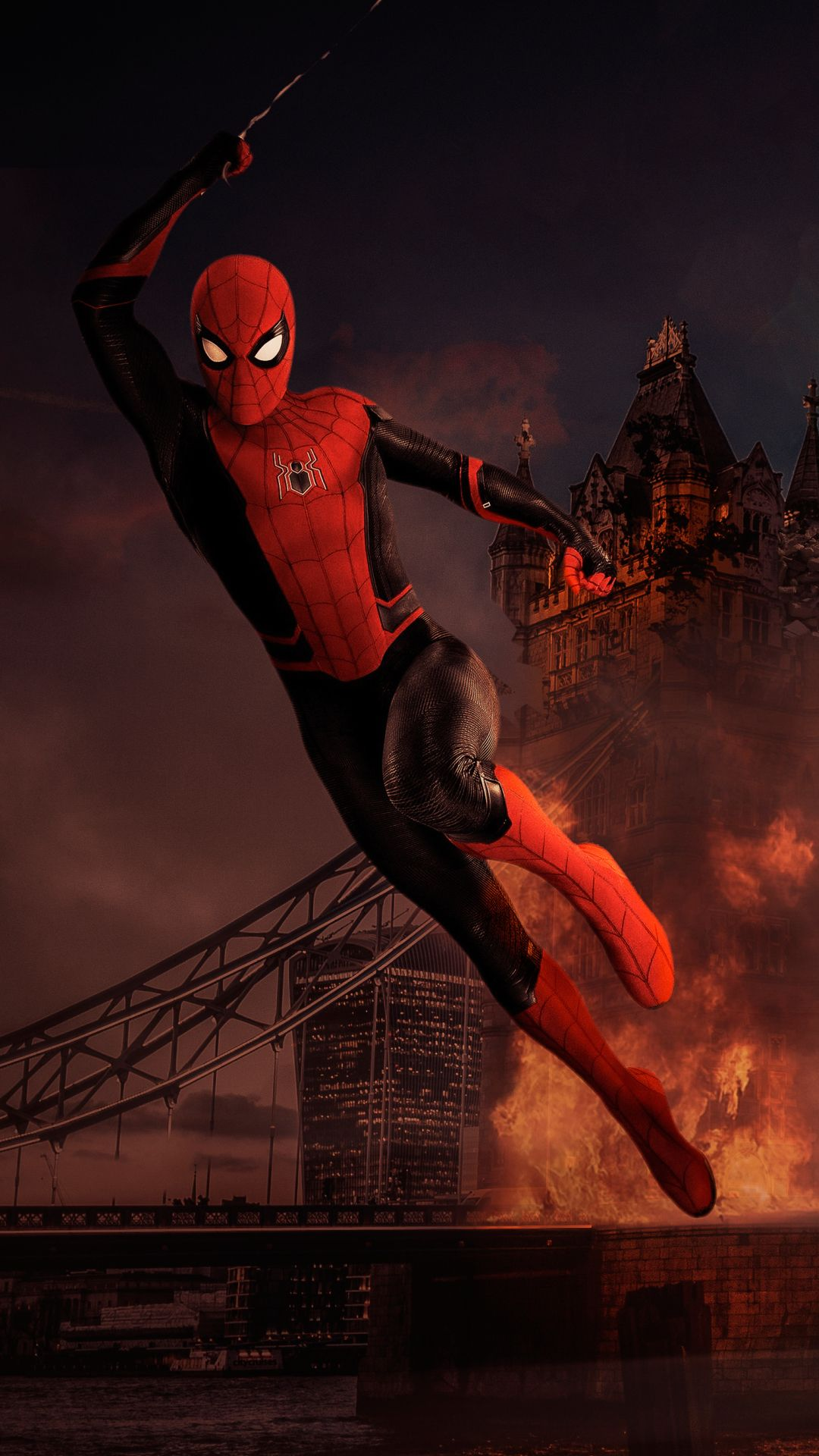 Spider Man Mobile Wallpaper Form The Movie Far From Home Spiderman Marvel Spiderman Marvel Heroes