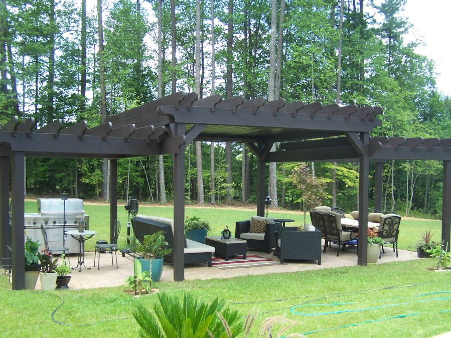 3 tiered pergola with tin roof pergolas backyard and patios
