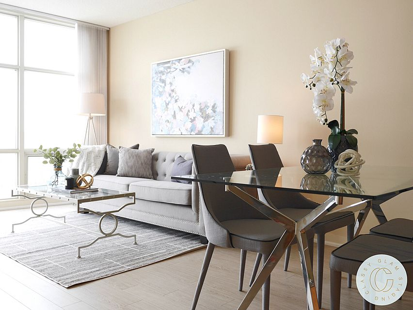 Open Concept Living Dining Condo Staging Home Staging Living