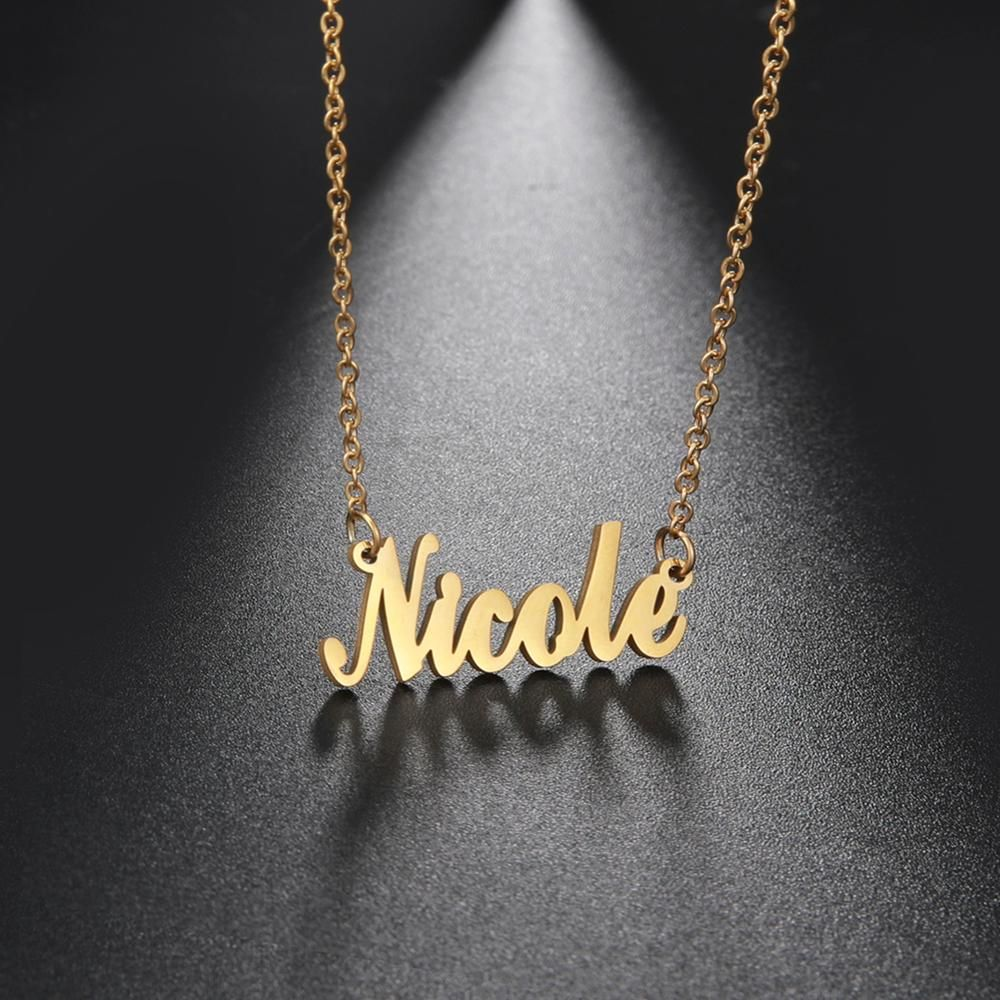 Gift for him or her according to request,Design your Necklace Personalized Custom Stainless steel pendant with letters or logo