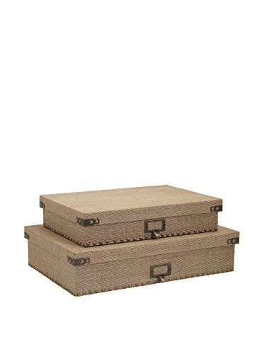 Decorative Document Boxes Imax 744172 Corbin Document Boxes  Office Organizers  Pinterest