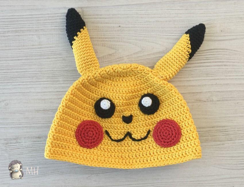 Gorro pikachu a crochet | crochet | Pinterest | Pikachu, Gorros y ...