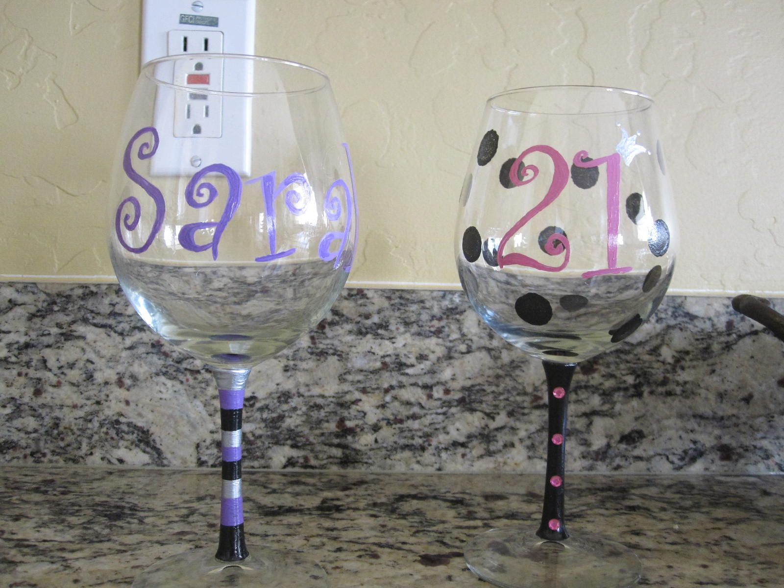 Painting Wine Glasses. Can't wait to get a Little!