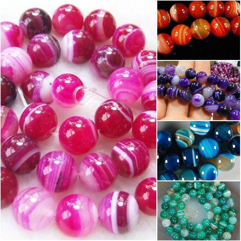 New 4mm Multicolor Agate Onyx  Gemstone Loose Bead 15/'/'