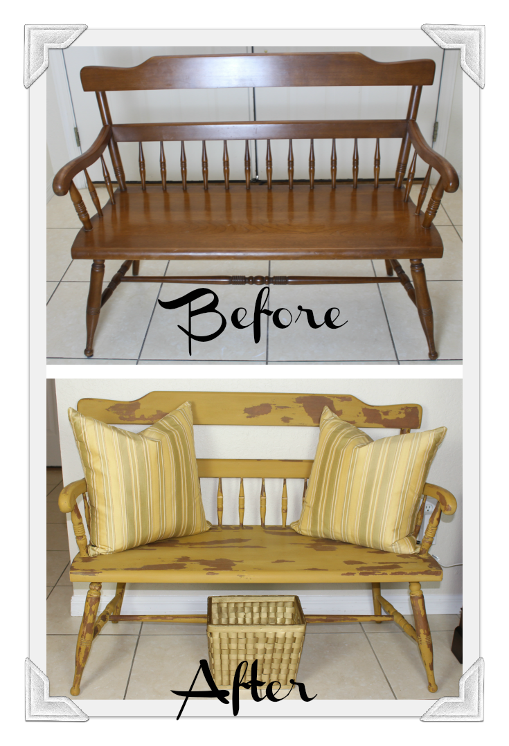 ... DIY180 Ethan Allen 1960 Bench Makeover Old Fashioned Milk Paint