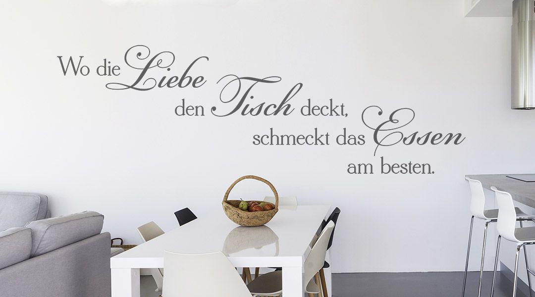 Wandtattoo Sprüche für die Küche | Wandbilder | Wandtattoo ...