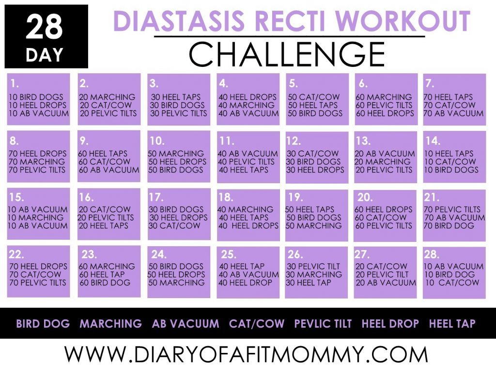 28 Day Diastasis Recti Workout Challenge - Diary of a Fit Mommy