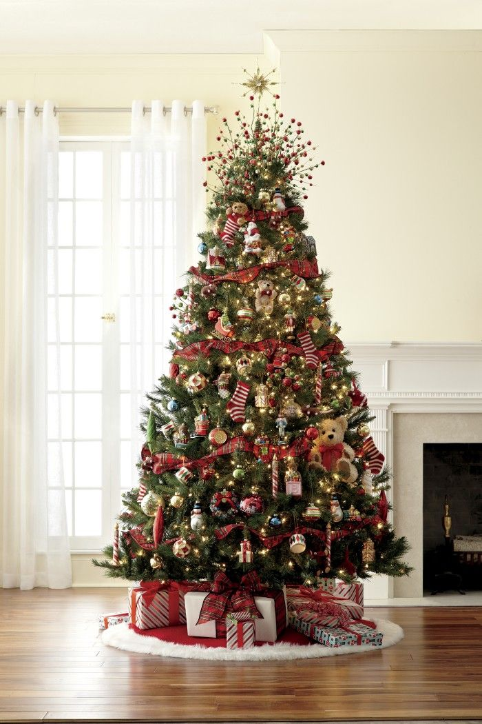 7 1 2 Pre Lit Mixed Pine Tree With Night Before Christmas Decorations Farmhouse Christmas Tree Christmas Decorations Real Christmas Tree